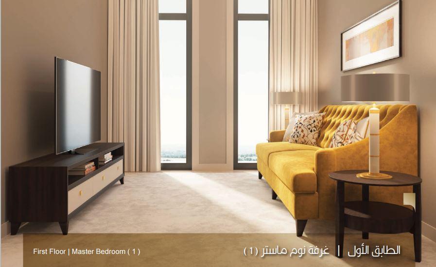 صورة الطابق الاول غرف نوم ماستر 1 نموذج بي B بيوت الملقا