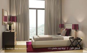 الطابق الاول غرف نوم ماستر 2 نموذج بي بيوت الملقا