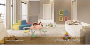 الطابق الثاني غرفة الاطفال نموذج سي بيوت الملقا