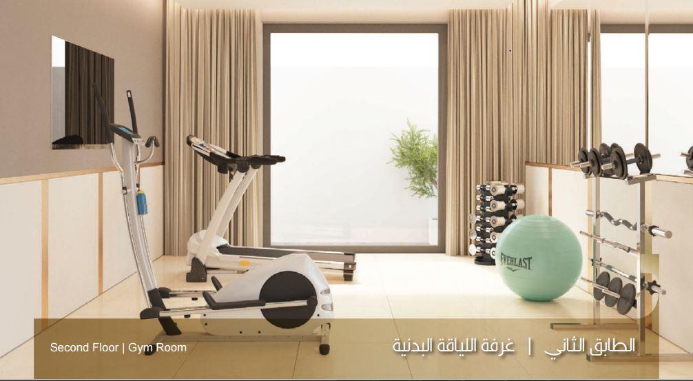 صورة الطابق الثاني غرفة اللياقة البدنية نموذج بي B بيوت الملقا