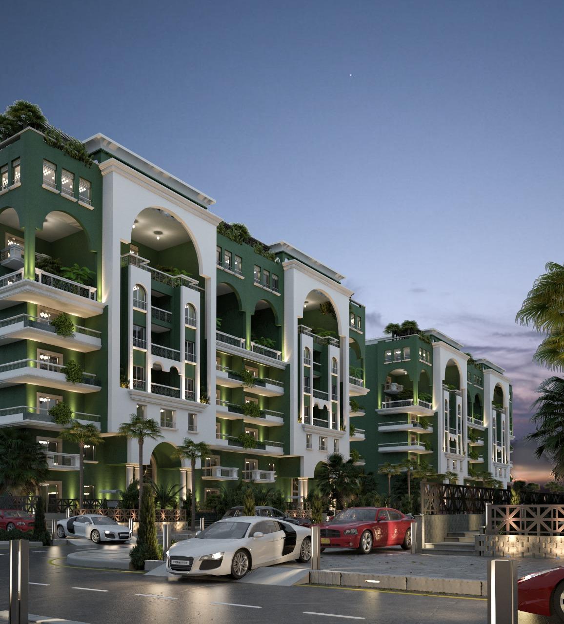 التصميم الخاص بكمبوند لافيردي العاصمة الادارية