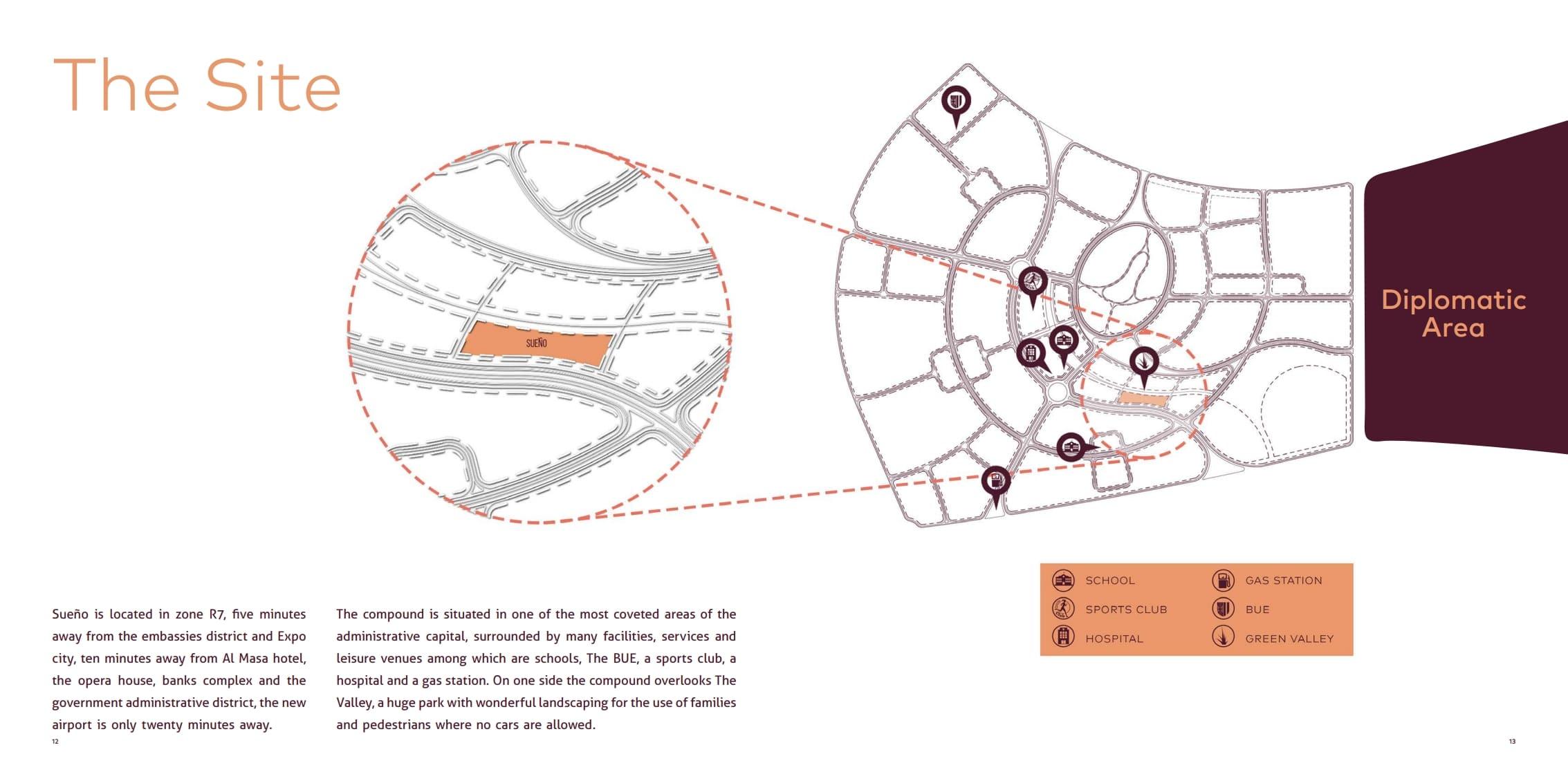 موقع كمبوند سوانيو بالعاصمة الادراية الجديدة Seuno New Capital