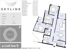 سكاي لاين اطول مبني سكني في العالم المعادي التقسيم الداخلي 2