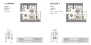 fifty two forty two uvisne Emaar tower unit b
