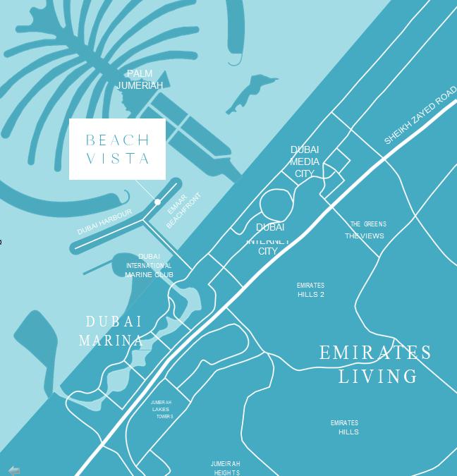BEACH VISTA AT EMAAR BEACHFRONT location