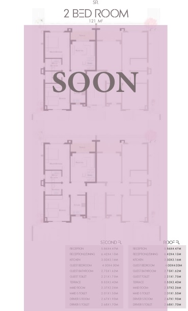 2 BED ROOM 121m soon