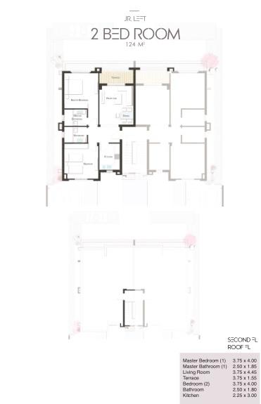 2 BED ROOM 124m
