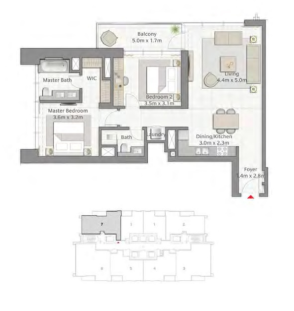 2 BEDROOM WITH BALCONY