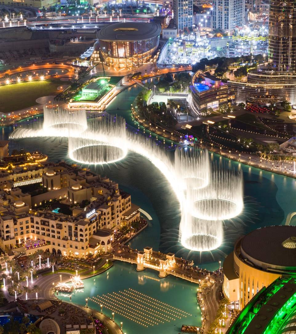 STELLAR VIEWS OF THE DUBAI FOUNTAIN / BURJ ROYALE Downtown Dubia