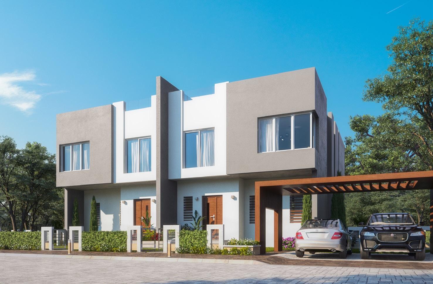 Twin Villa - Front yard