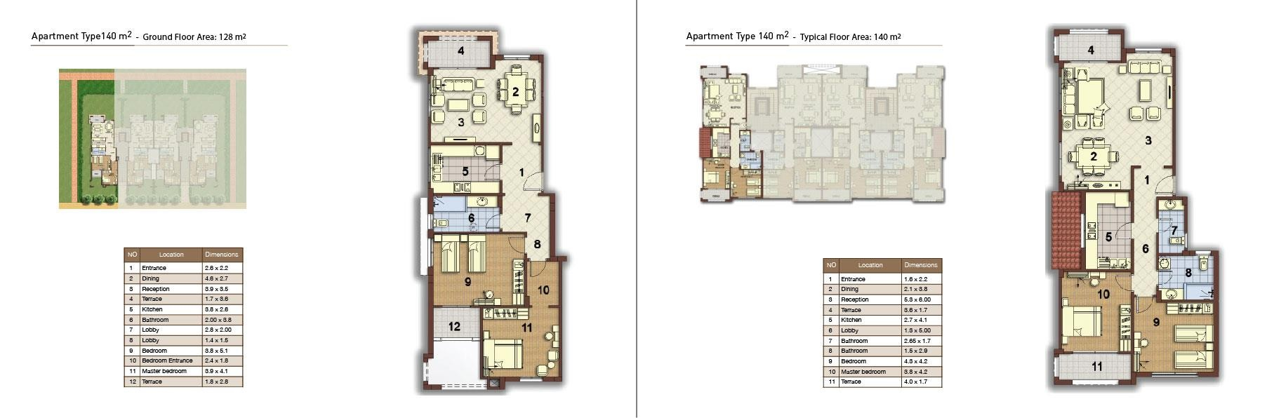 apartment type 140 corner 01