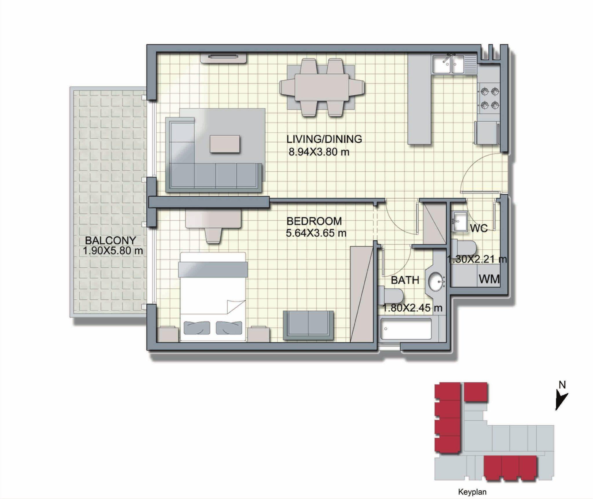1 Bedroom - A1