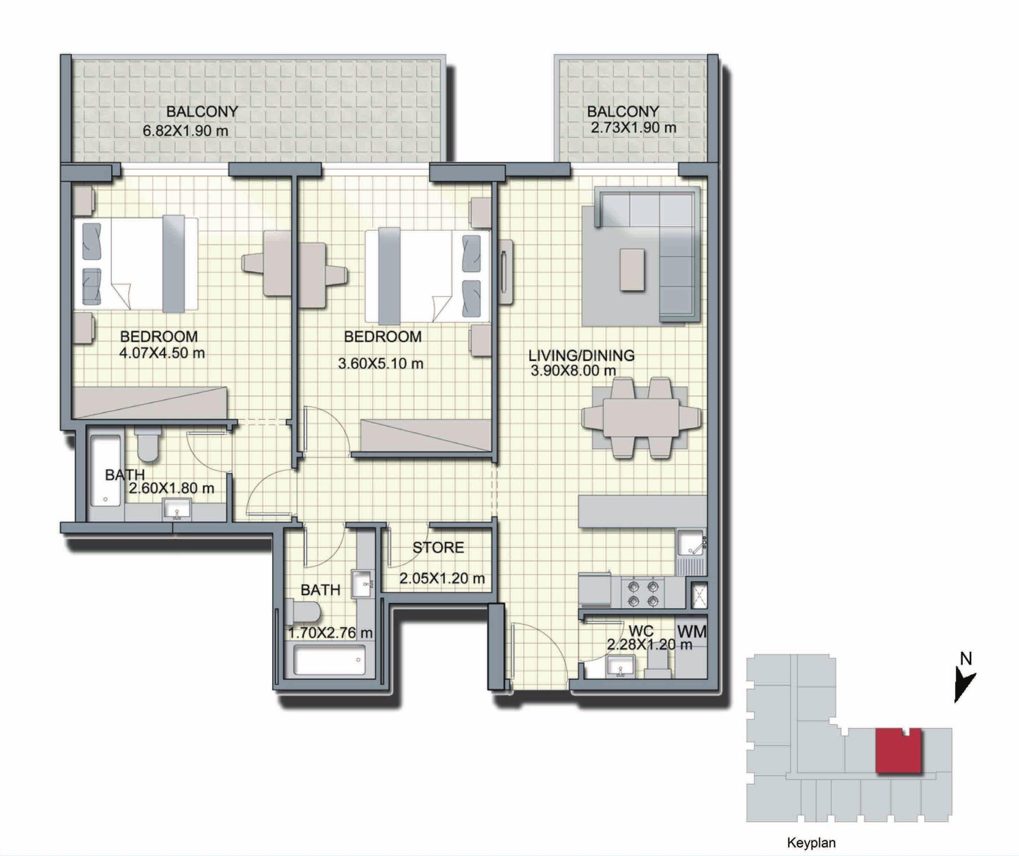 2 Bedroom + Store - B5