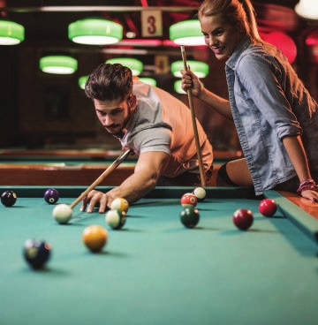 A GAMES ROOM FOR HOURS OF ENTERTAINMENT AND GOOD TIMES