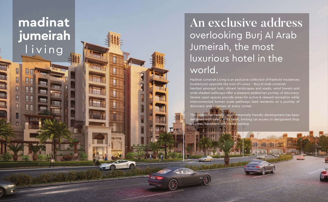 An exclusive address overlooking Burj Al Arab Jumeirah, the most luxurious hotel in the world.