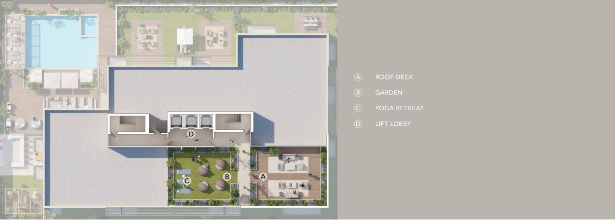 BELGRAVIA HEIGHTS II AMENITIES PLAN AT ROOF TERRACE