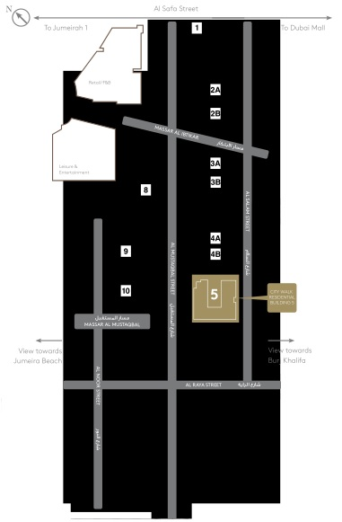 CITY WALK RESIDENTIAL BUILDING 5 - SITE PLAN