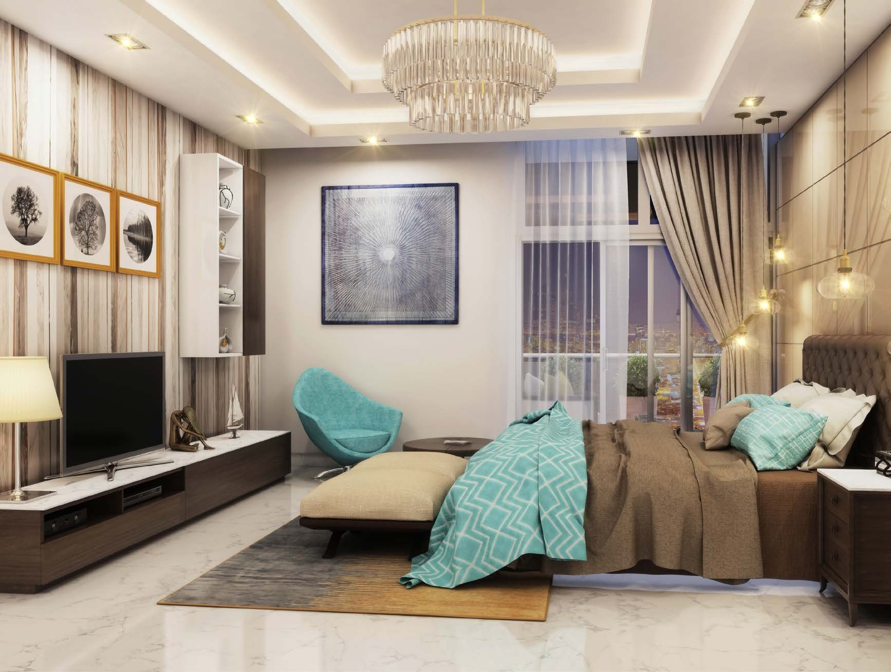 Fashionable living spaces 124 One bedroom apartments