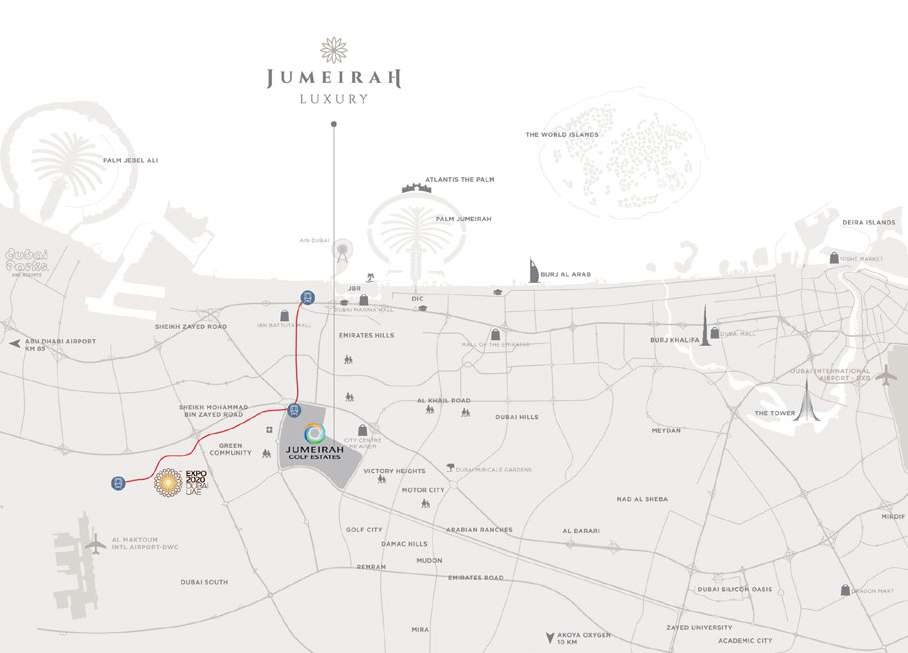 LOCATION OF JUMEIRAH LUXURY