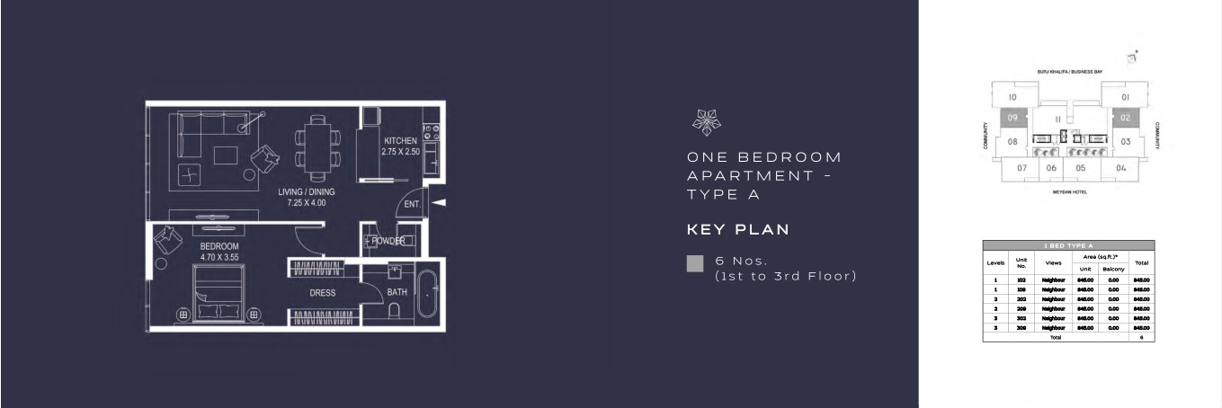 ONE BEDROOM APARTMENT - TYPE A