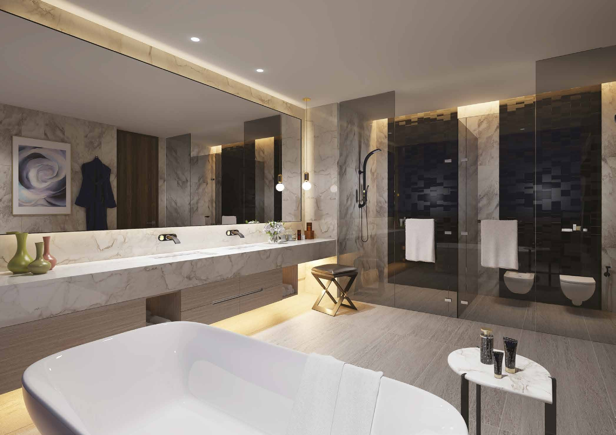 THE PENTHOUSE MASTER BATHROOM