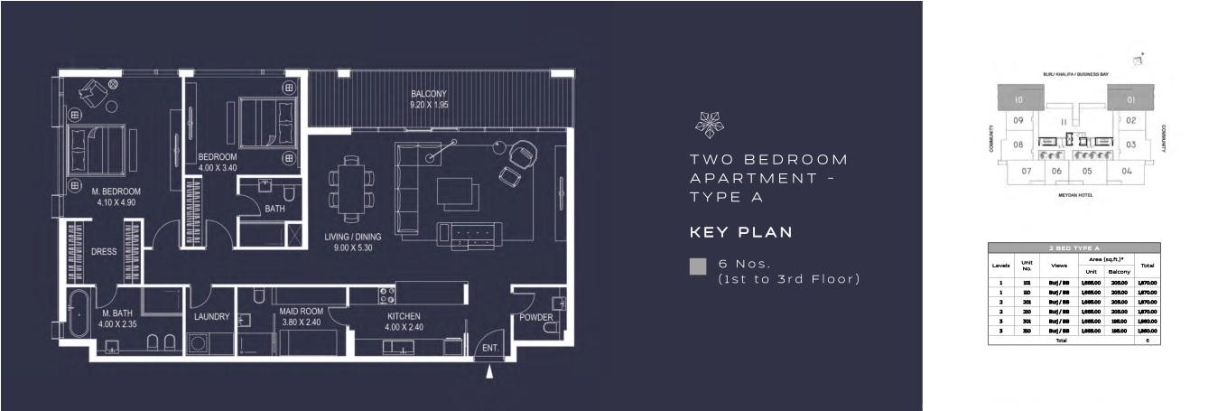 TWO BEDROOM APARTMENT - TYPE A