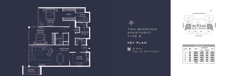 TWO BEDROOM APARTMENT - TYPE B