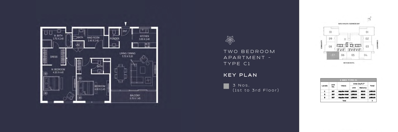 TWO BEDROOM APARTMENT - TYPE C1