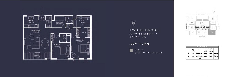 TWO BEDROOM APARTMENT - TYPE C3