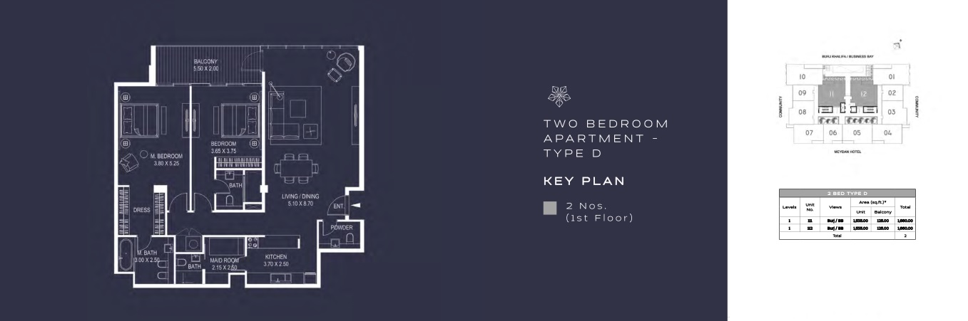 TWO BEDROOM APARTMENT - TYPE D