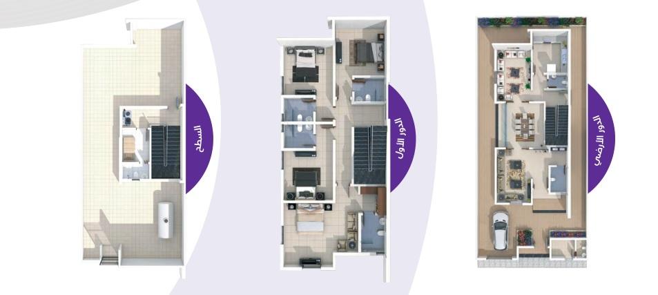 مساحة البناء 405 m