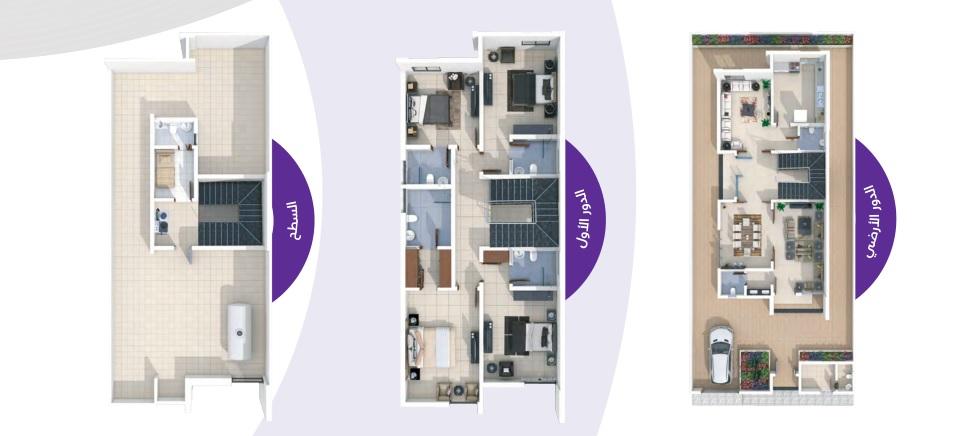 مساحة البناء 409 m