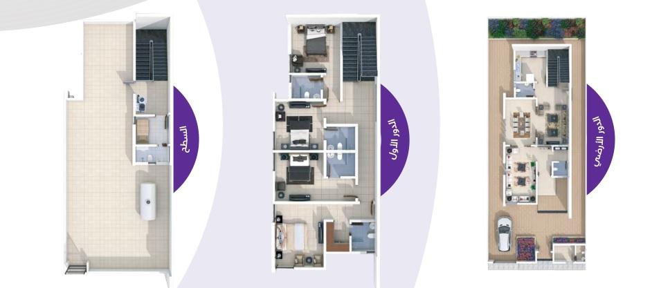 مساحة البناء 410 m