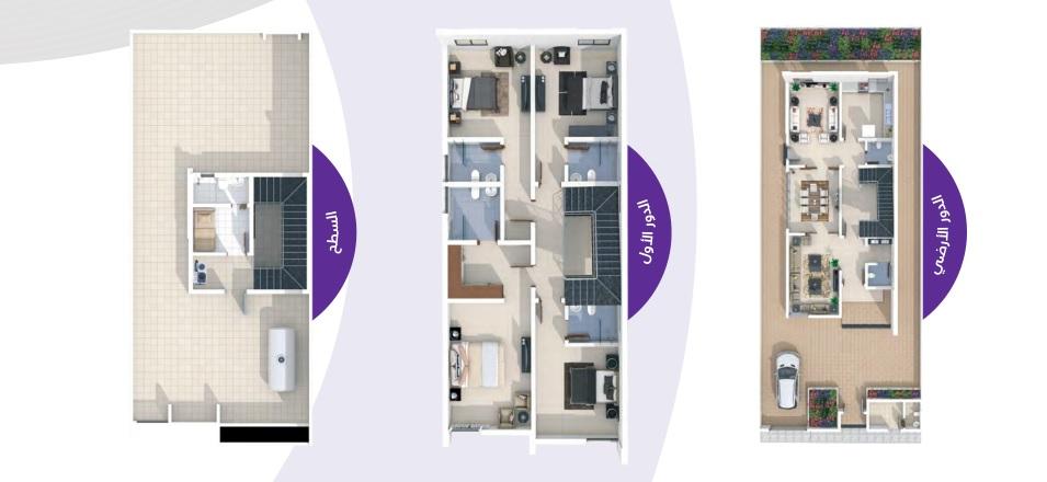 مساحة البناء 416 m