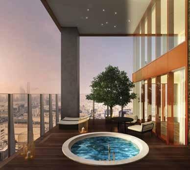شقة 2 غرف نوم (شرفة) 215–210 متر مربع