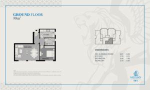 ميد تاون سكاى العاصمة الادارية الجديدة Midtown Sky - شقة 2 غرف 1 حمام 110 متر² - السعر 1,155,000جنية - سعر المتر 10,500 جنية