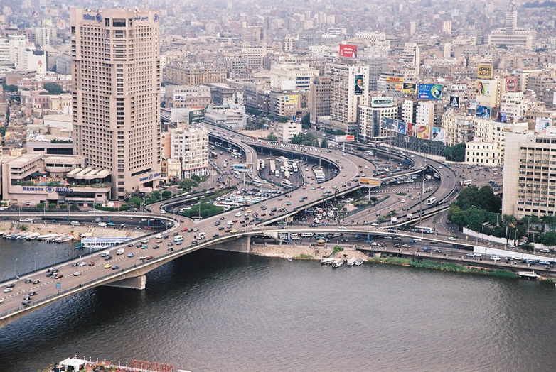 حي الزمالك بالقاهرة من اعلي
