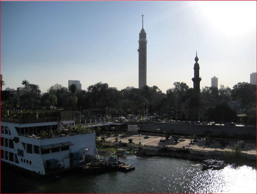 يمكن رؤية وسط معالم القاهرة من الزمالك
