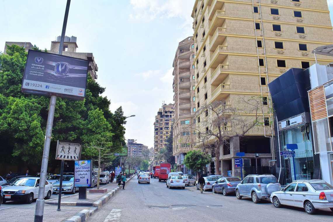 الشارع الرئيسي في المهندسين هو شارع جامعة الدول العربية