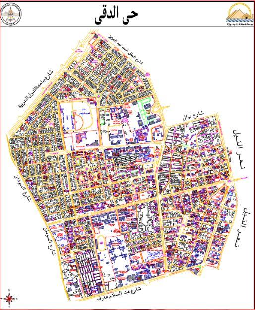 خريطة حى الدقى بالجيزة 2019
