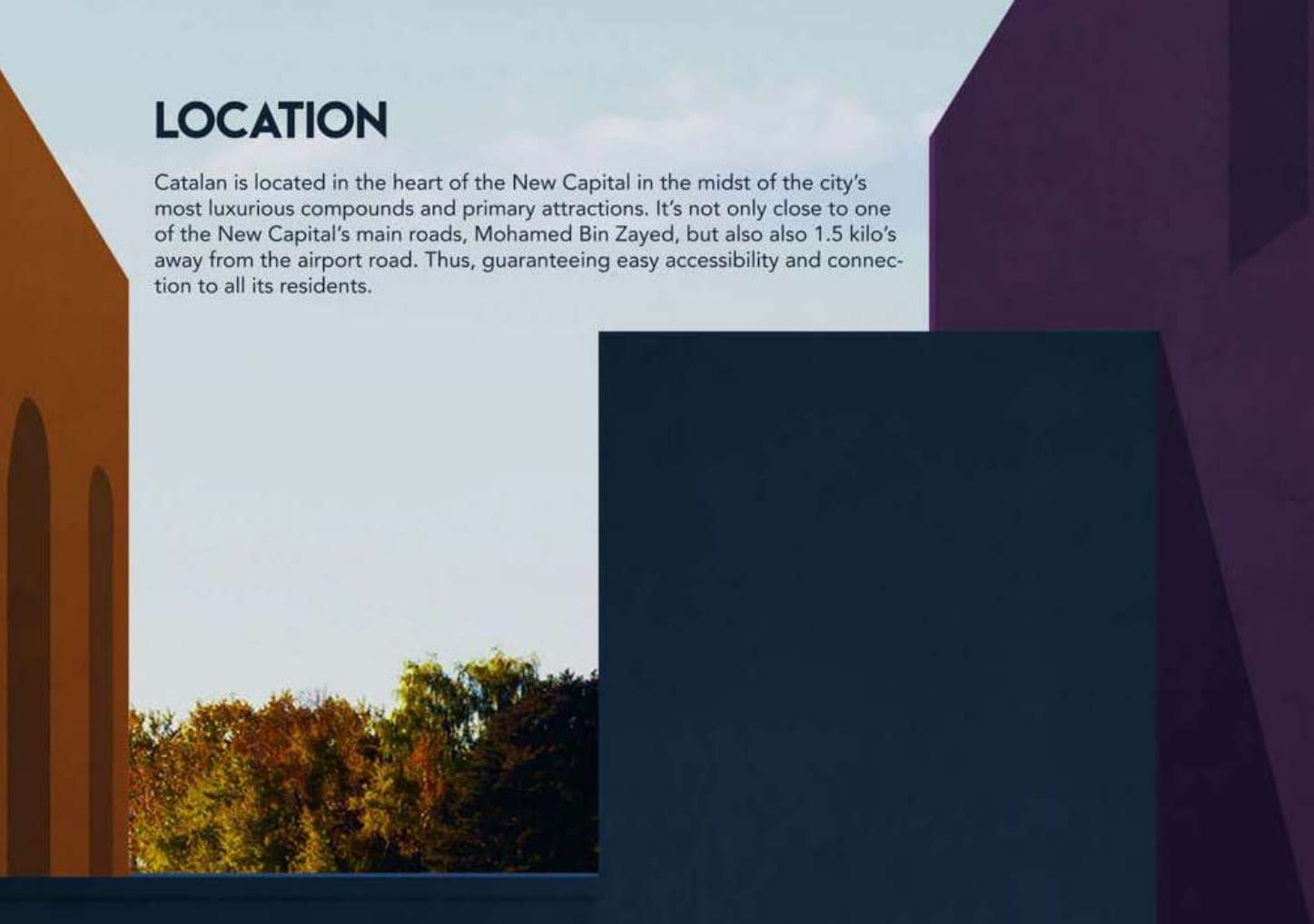 موقع كمبوند كاتلان في قلب العاصمة الادارية