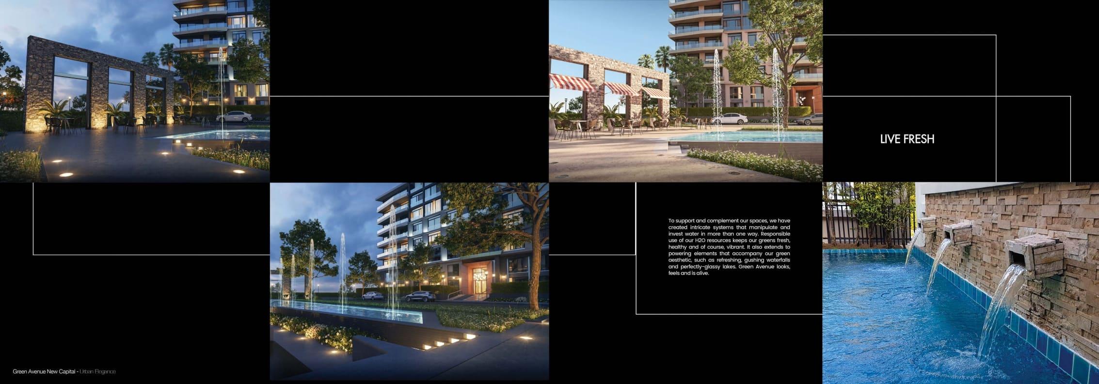 تصميم كمبوند جرين افينيو بالعاصمة الادارية الجديدة Compound Green Avenue