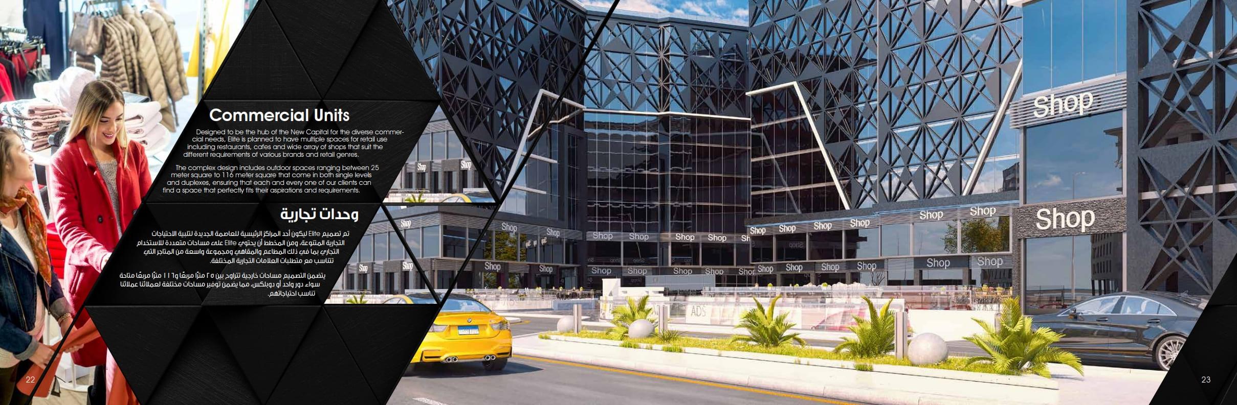 مساحات مشروع مول ايليت مول العاصمة الادراية الجديدة Elite New Capital