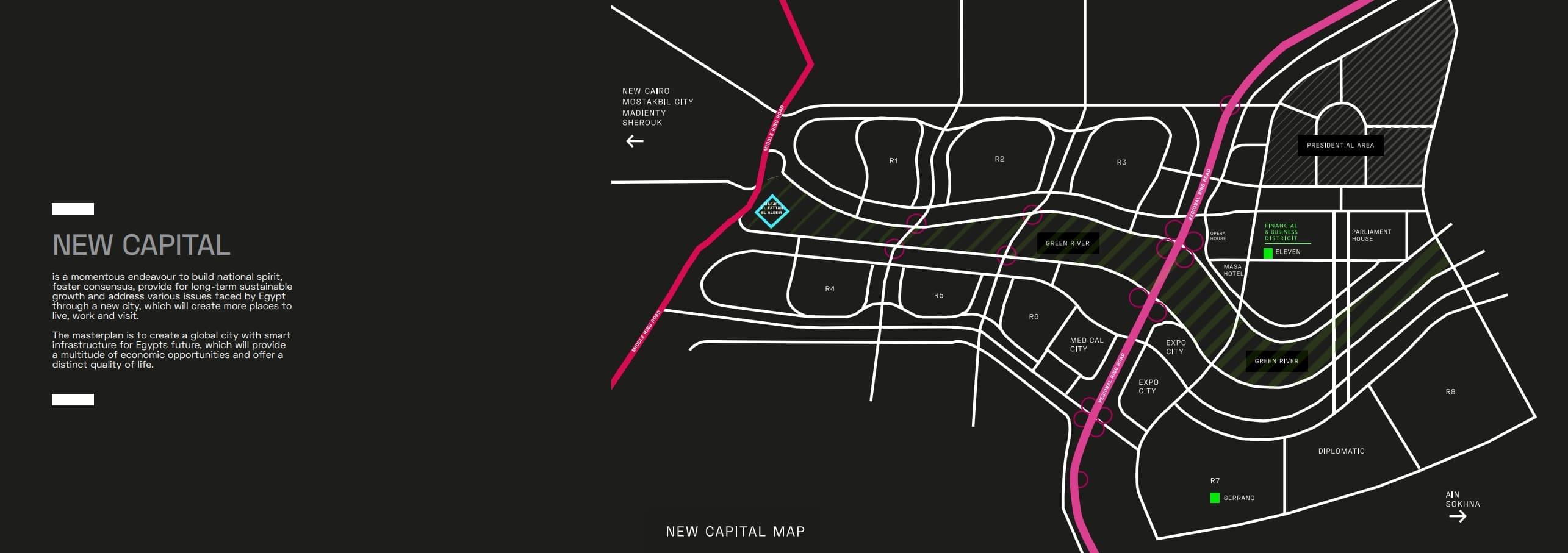 موقع ايلفين مول بالعاصمة الادارية الجديدة Eleven Mall New Capital