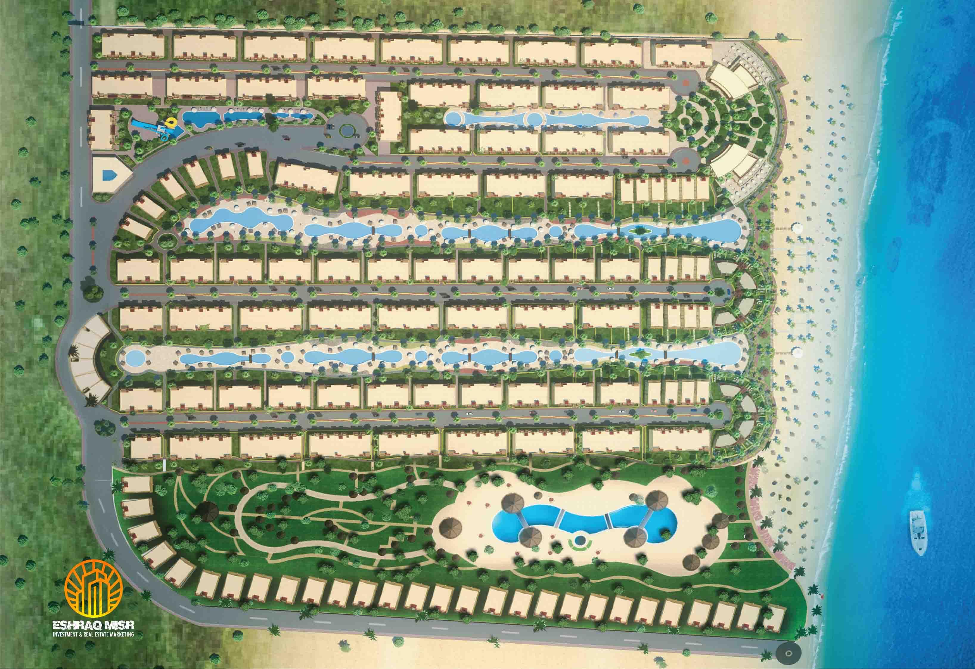 مساحات لاسيرينا بالم بيتش العين السخنةLasirena Palm Beach Ain Sokhana