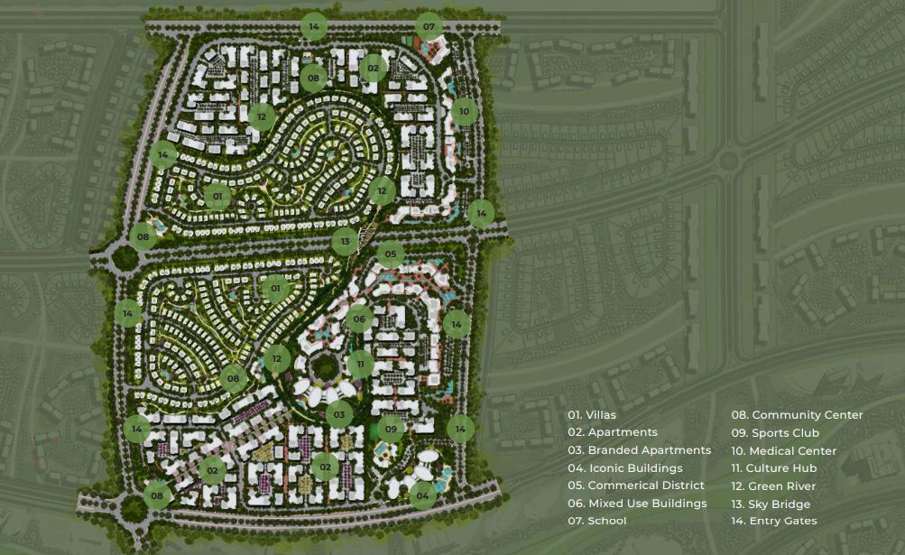 مخطط وتصميم مشروع Sila New Cairo