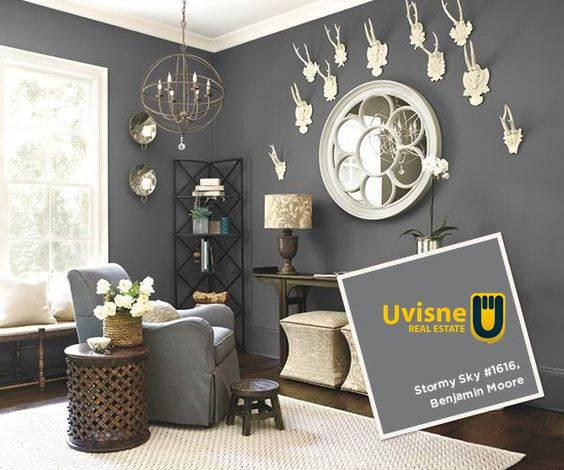 اللون الرمادي في غرفة المعيشة
