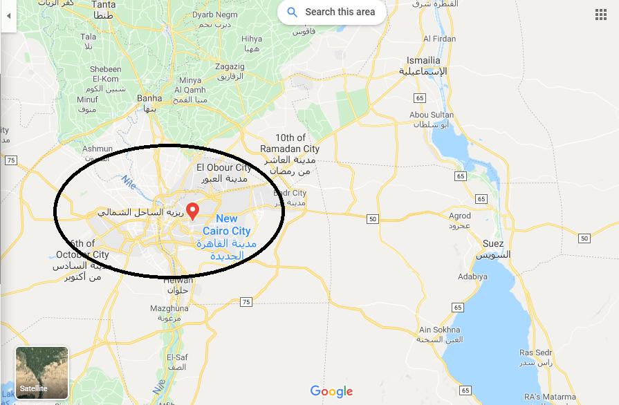 موقع قرية ريزيه الساحل الشمالي Rize village north coast علي الخريطة
