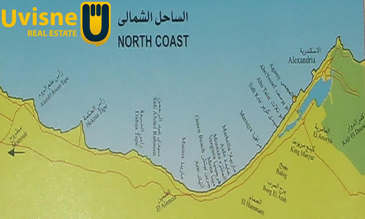 خريطة الساحل الشمالي