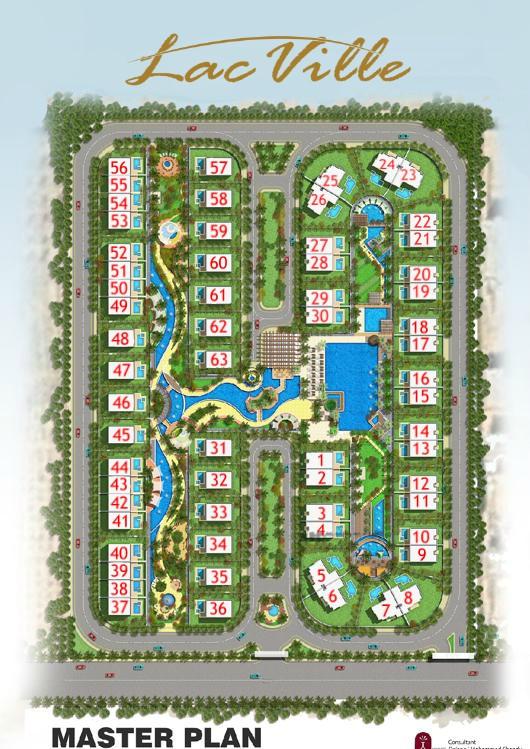المخطط الهندسي وتصميم مشروع Lac Ville الشيخ زايد